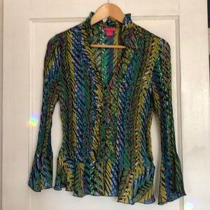 Ruffle Neck blouse